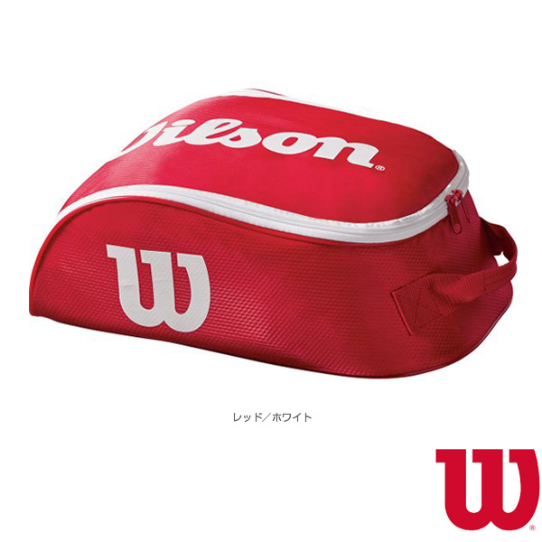 bf1cf04416dc  Wilson tennis bag  TOUR IV SHOE BAG RDWH  tour IV shoes bag   red X white  (WRZ847887)