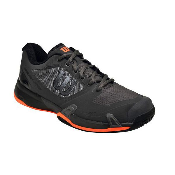 Wilson Men Rush Pro 2.5 Tennis Shoes Running Gray Racket Sneakers Shoe WRS324110