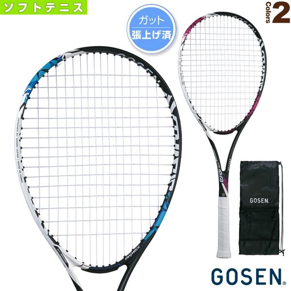 ゴーセン ソフトテニス ラケット 激安価格と即納で通信販売 アクシエス 300 前衛後衛共通 AXTHIES 軟式 張り上がり 注目ブランド SRA3