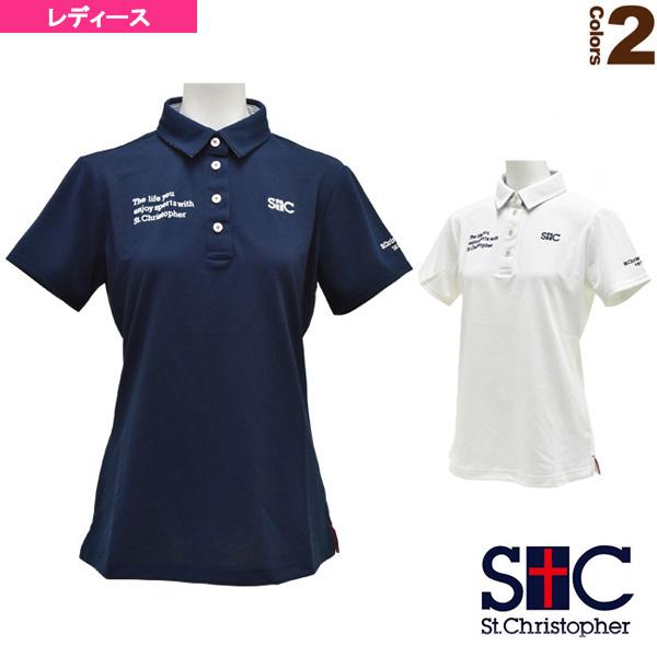 [セントクリストファー テニス・バドミントン ウェア(レディース)]ライフスタイルポロシャツ/レディース(STC-AGW0003)