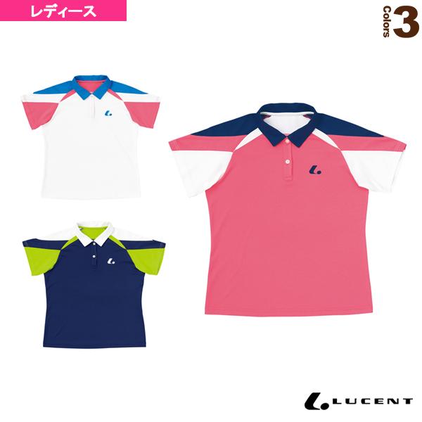 [ルーセント テニス・バドミントン ウェア(レディース)]ゲームシャツ/レディース(XLP-495)