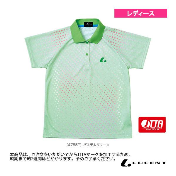 [ルーセント 卓球 ウェア(レディース)]ゲームシャツ/JTTA公認マーク付/レディース(XLP-475xP)