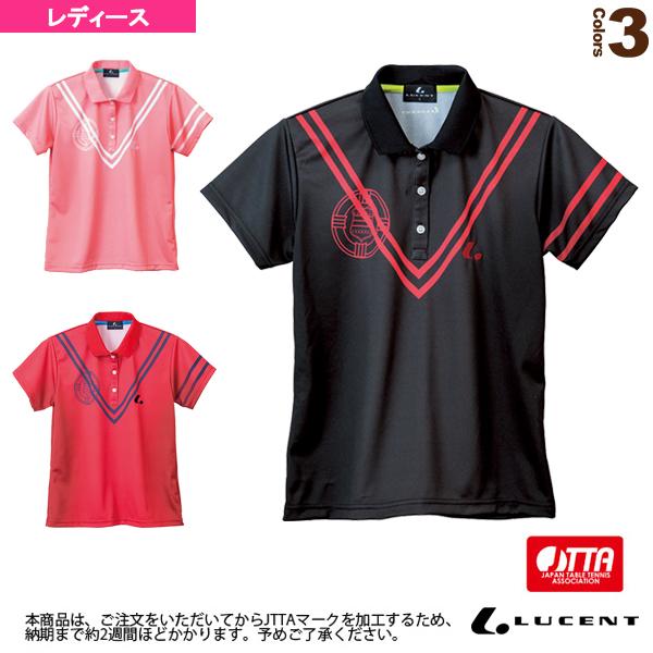 [ルーセント 卓球 ウェア(レディース)]ゲームシャツ/JTTA公認マーク付/レディース(XLP-486xP)