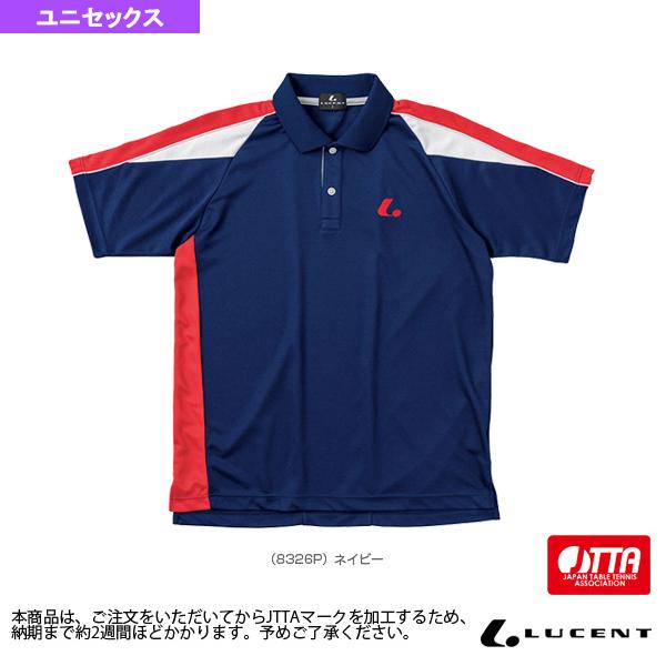 [ルーセント 卓球 ウェア(メンズ/ユニ)]ゲームシャツ/JTTA公認マーク付/ユニセックス(XLP-832xP)