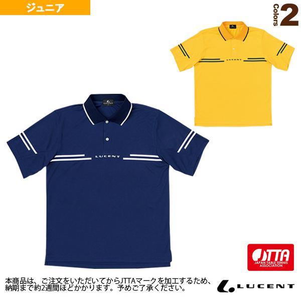 [ルーセント 卓球 ジュニアグッズ]ゲームシャツ/JTTA公認マーク付/ジュニア(XLP-846xP)