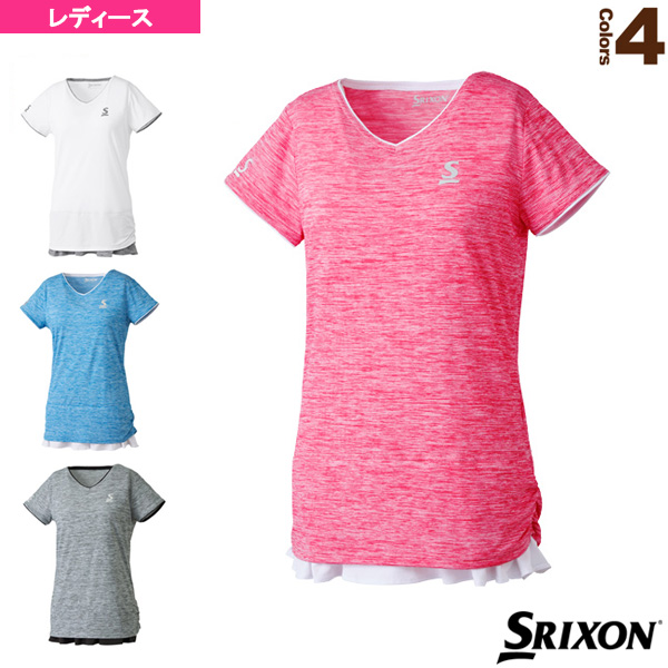 [スリクソン テニス・バドミントン ウェア(レディース)]ゲームシャツ/ツアーライン/レディース(SDP-1860W)テニスウェア女性用