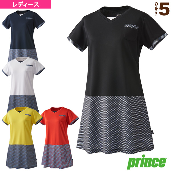 [プリンス テニス・バドミントン ウェア(レディース)]ワンピース/レディース(WL8414)テニスウェア女性用|ラケットプラザ