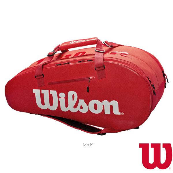 [ウィルソン テニス バッグ]SUPER TOUR 2 COMP LARGE/スーパーツアー2コンプ ラージ/レッド/ラケット9本収納可(WRZ840809)