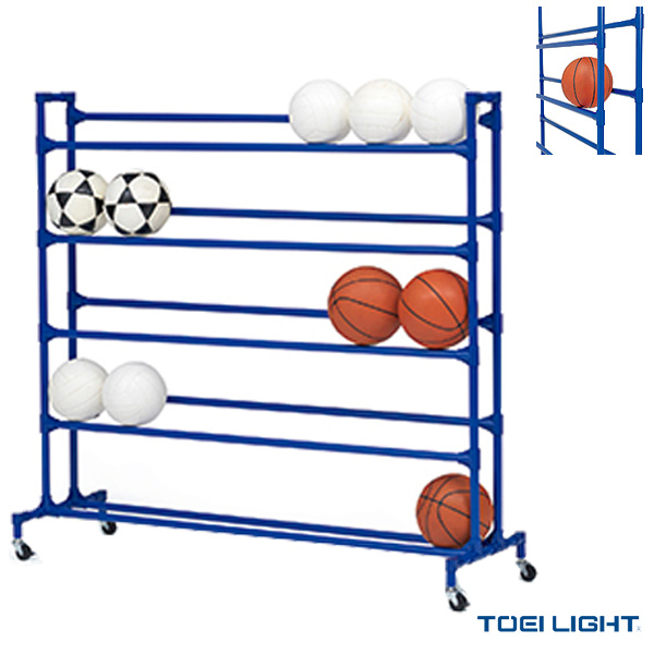 [TOEI(トーエイ) オールスポーツ 設備・備品][送料別途]ボール整理棚YZ5(B-2663)