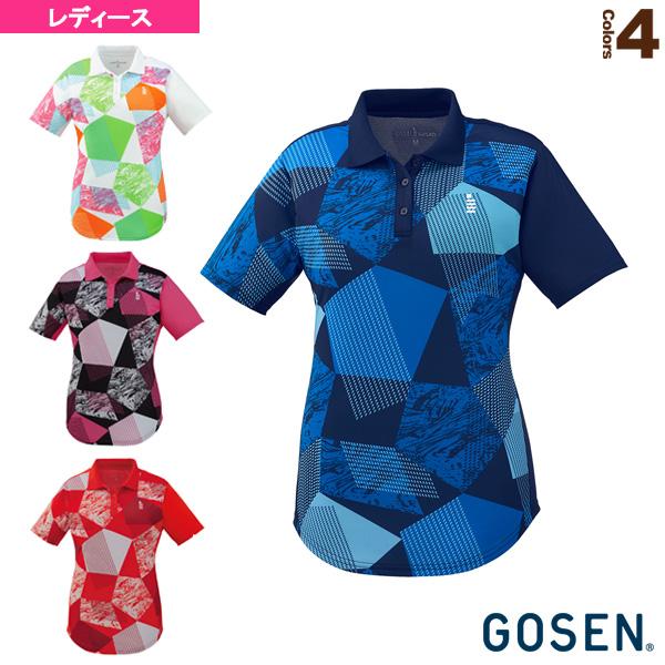 [ゴーセン テニス・バドミントン ウェア(レディース)]ゲームシャツ/レディース(T1901)