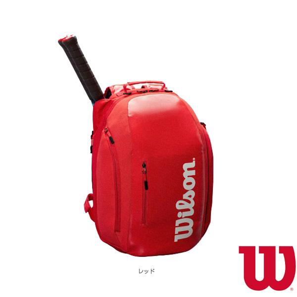 [ウィルソン テニス バッグ]SUPER TOUR BACKPACK RED/ラケット2本収納可(WRZ840896)