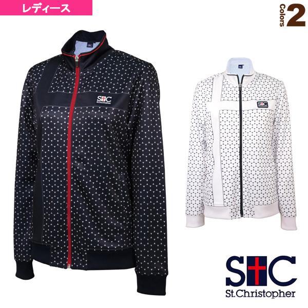 [セントクリストファー テニス・バドミントン ウェア(レディース)]ドットジャケット/レディース(STC-AIW2109)