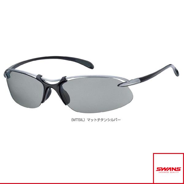 [スワンズ オールスポーツ アクセサリ・小物]Airless-Wave(エアレスウェーブ)偏光レンズモデル/マットチタンシルバー/偏光スモーク(SA-501 MTSIL)