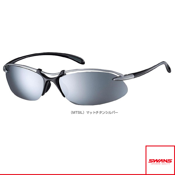 9e9868518ee  Swans accessories and accessories all sports  Airless-Wave (airless wave)  mirror lens model   mat   silver mirror   smoke (SA-505 MTSIL)
