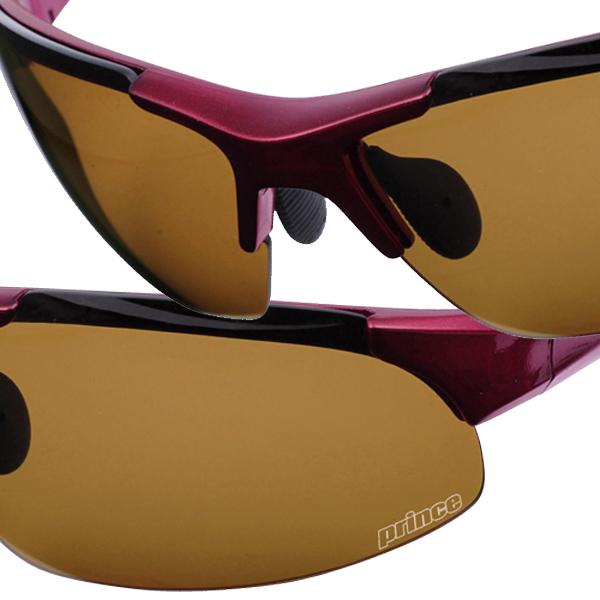 黑色素偏光鏡片太陽鏡 / 私人半堅硬的外殼和洋紅色-PSU333 [網球太陽鏡和紫外線保護王子 /PRINCE]