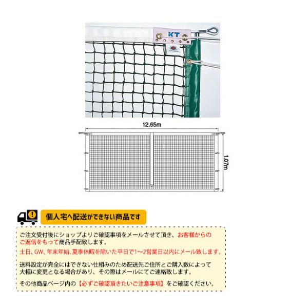 [寺西喜ネット テニス コート用品]全天候式有結節硬式テニスネットサイドポール挿入式(KT-221/KT-222)