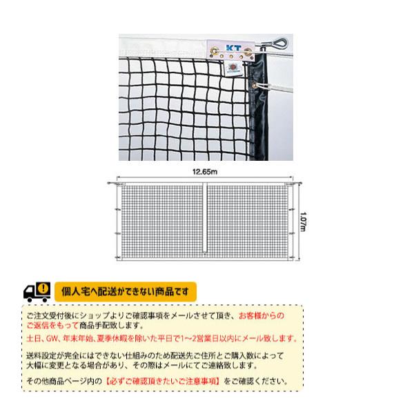 [寺西喜ネット テニス コート用品]全天候式無結節硬式テニスネットサイドポール挿入式(KT-4223)