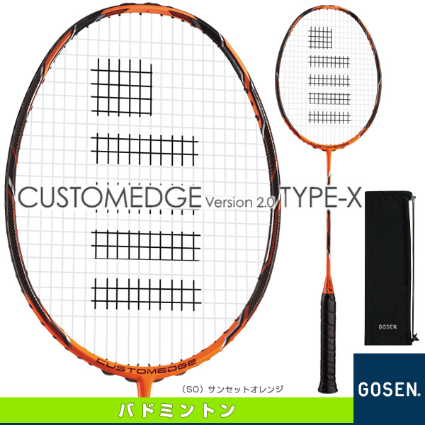 "作家 /GOSEN 羽毛球球拍""出售 25%的折扣""定制边 V2.0 类型 X / CUSTOMEDGE 咋样类型-X (BRCE2TX)"