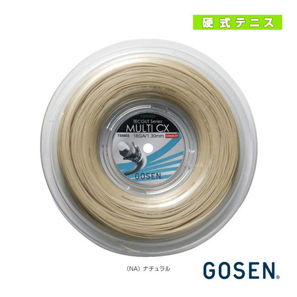 [ゴーセン テニス ストリング(ロール他)]テックガット マルチ CX 16/TECGUT MULTI CX 16/240mロール(TS6602)(マルチフィラメント)ガット