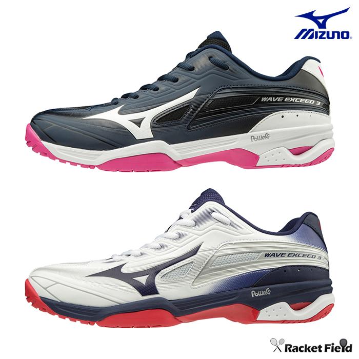 ミズノ ソフトテニスシューズ ウエーブエクシード 3 OC(61GB1912)2E相当 MIZUNO テニスシューズ ミズノ ソフトテニス シューズ ミズノ テニスシューズ 軟式テニス シューズ soft tennis shoes