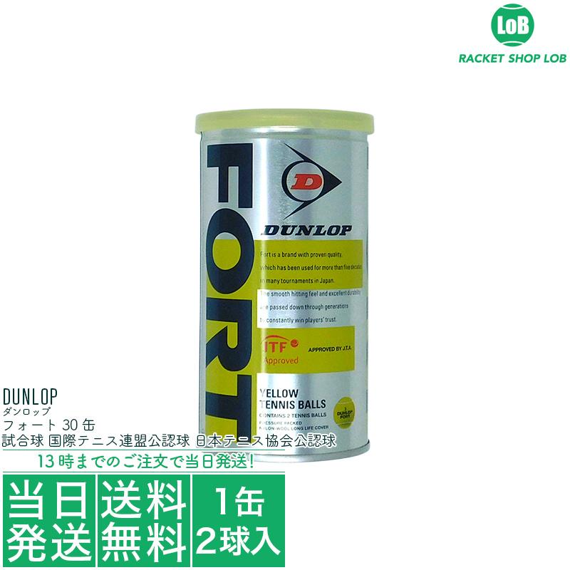 【国内正規品】ダンロップ フォート(DUNLOP FORT)2球入30缶セット DFDYL2DOZ 硬式テニスボール