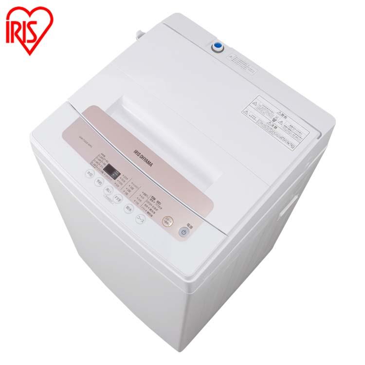 全自動洗濯機 5.0kg IAW-T502E-WPG全自動 洗濯機 5.0kg 一人暮らし ひとり暮らし 部屋干し 洗濯 せんたく 毛布 洗濯器 ステンレス槽 アイリスオーヤマ[cpir][iriscoupon]