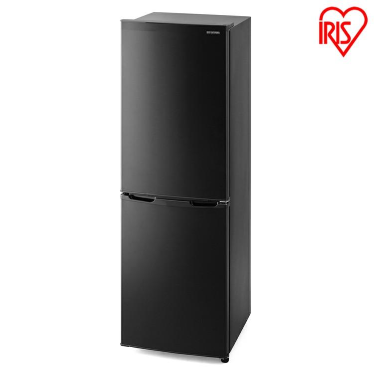 ノンフロン冷凍冷蔵庫 162L ブラック IRSE-16A-B送料無料 ノンフロン冷凍冷蔵庫 162L 2ドア 162リットル 冷蔵庫 れいぞうこ 冷凍庫 れいとうこ 料理 調理 家電 食糧 冷蔵 保存 食糧 白物 右開き みぎびらき アイリスオーヤマ