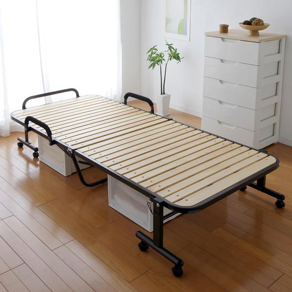 すのこベッド 折りたたみベッド ハイタイプ OTB-WH アイリスオーヤマすのこ ベッド ベット シングル 折り畳みベッド 折りたたみベット 送料無料 天然木使用 簡易ベッド 通気性 湿気対策 ブラウン ナチュラル 介護 ハイタイプ シングルベッド[cpir]