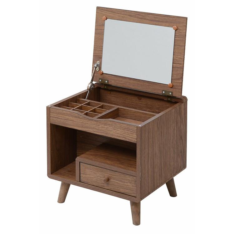 Pico series dresser FAP-0012 ブラウン・ナチュラルドレッサー 化粧台 コンパクト 収納 小物収納 引き出し【TD】【JK】