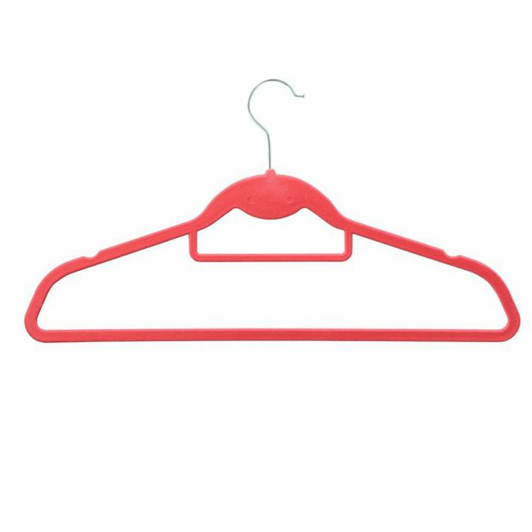 ノンスリップハンガー カラフル ブラック 入手困難 ブラウン ピンク 同色10本セット D すべらないハンガー グレー 気質アップ