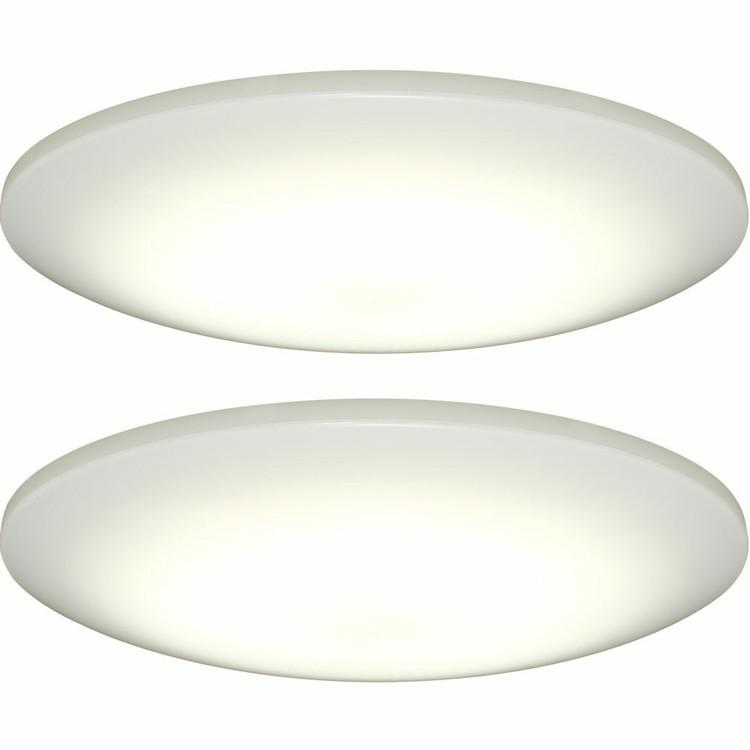【2個セット】LEDシーリングライト 6畳調光 スマートスピーカー対応フラットタイプCL6D-6.0HAIT[cpir][iris60th]
