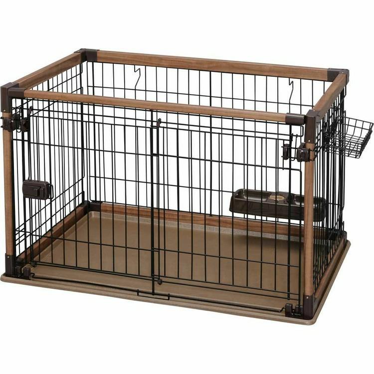 オープンウッディサークル ダークブラウン OPWS-960送料無料 サークル ケージ ペットサークル ペット ペットケージ ウッディサークル 室内 室内用 犬 イヌ 猫 ネコ ねこ おしゃれ 超小型犬 小型犬 組み立て 簡単 組立て アイリスオーヤマ[cpir]