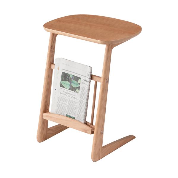 【送料無料】ソファサイドテーブル HOT-535 ナチュラル デスク 机 腰掛 つくえ 袖机 【D】【東谷】