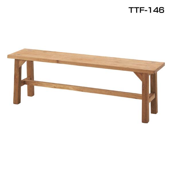 【送料無料】【TD】ビビア ベンチ TTF-146  天然木 椅子 イス 食卓 ウッド 北欧 チェア 腰掛 ダイニングチェア シンプル ナチュラル 【取寄せ品】【東谷】