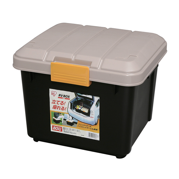 RVBOXエコロジーカラー400 カーキ 期間限定お試し価格 ブラック アイリスオーヤマ コンテナボックス 蓋付き BV BOX 工具収納 cpir 収納 ●スーパーSALE● セール期間限定 庭 ガーデン RVボックス 収納ボックス