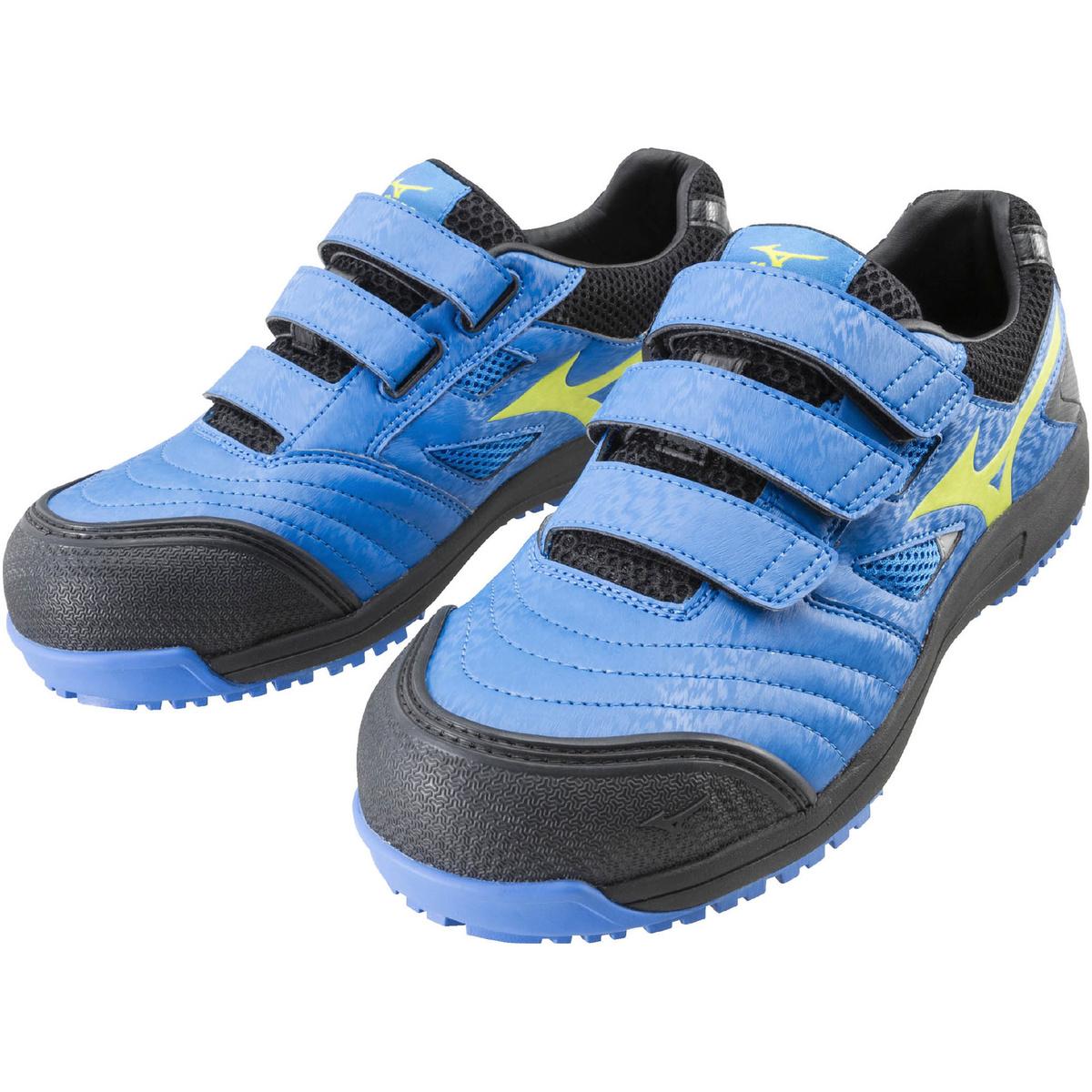 ミズノ オールマイティFF 27ブルー×イエロー×ブラック C1GA180127 安全靴 ワークシューズ C1GA1801