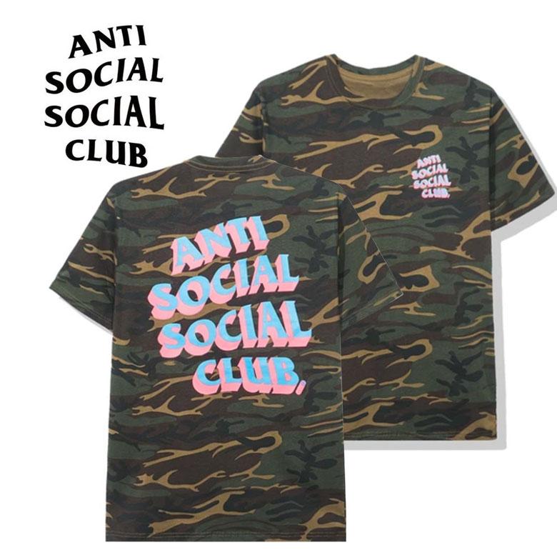 anti social social club アンチソーシャルソーシャルクラブ POPCORN CAMO TEE Tシャツ