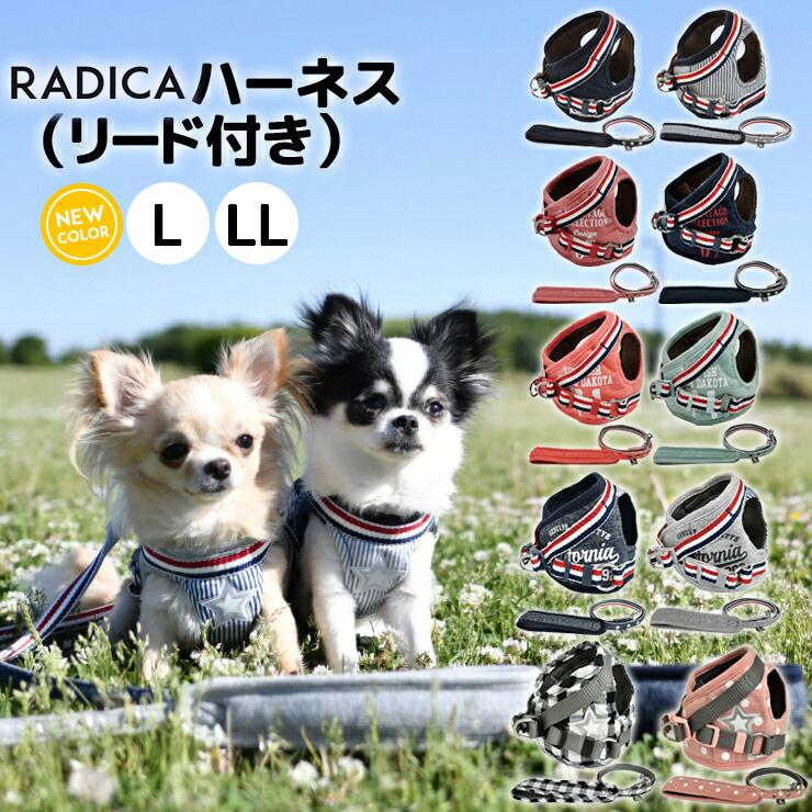 ペット ペットグッズ 犬用品 胴輪 リード ハーネス RADICA ラディカ 開催中 犬 小型犬 犬用 再入荷 予約販売 犬具 返品不可 お出かけ 散歩 簡単装着 リードセット サイズ交換OK ランキング連続1位 メール便可RADICA+Y 付き