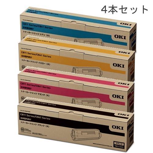 【まとめ買い】C841dn/C811dn/MC883/MC863/MC843シリーズ用 【純正品】OKI TNR-C3L(大容量) 4色セット