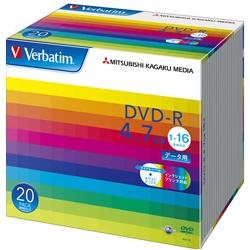 DVD-R 4.7GB PCデータ用 1-16倍速 ワイド印刷可能 国内即発送 20枚スリムケース入り 毎日激安特売で 営業中です 三菱ケミカルメディア DHR47JP20V1