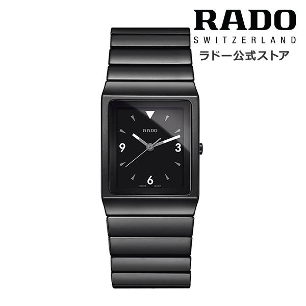 【公式/送料無料】ポイント10倍 ! 8/20~8/30 RADO ラドー メンズ CERAMICA セラミカ R21708152クウォーツ ブラック ハイテク セラミックス ブレスレット 腕時計 スイス オフィシャル