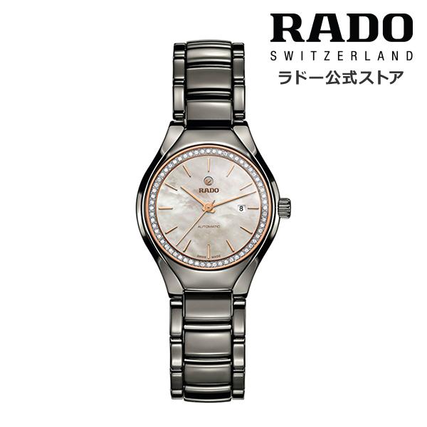 【公式/送料無料】ポイント10倍 ! 8/20~8/30 RADO ラドー レディース TRUE AUTOMATIC DIAMONDS トゥルー オートマティック ダイヤモンズ R27243852自動巻き 機械式 ムーブメント ブラック ハイテク セラミックス ブレスレット ダイヤモンド MOP 腕時計 スイス