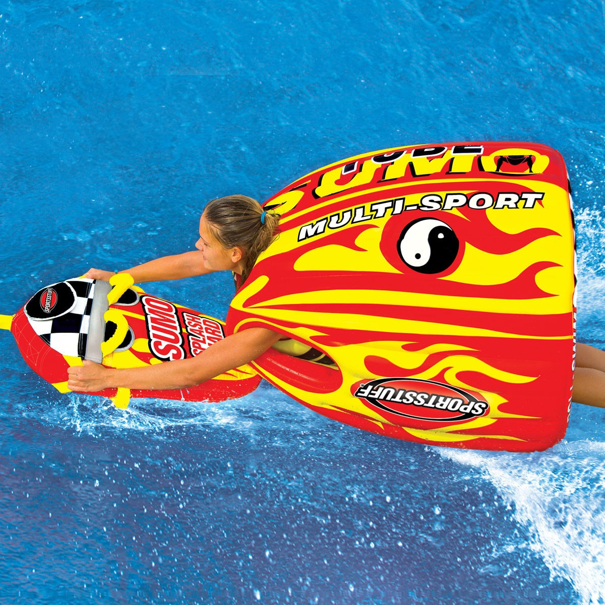 【トーイングチューブ】SPORTSSTUFF スポーツスタッフ SUMO&SPLASH GUARD combo スモウ&スプラッシュ ガード セット 1人乗り