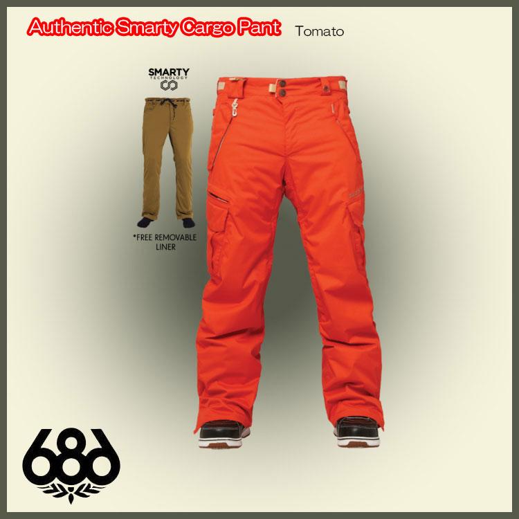 14-15 686 シックスエイトシックス ウェア Authentic Smarty Cargo Pant Tomato 送料無料 [スノーボード ウェア パンツ] 14-15/686/シックスエイトシックス/Authentic Smarty Cargo Pant/パンツ/2015