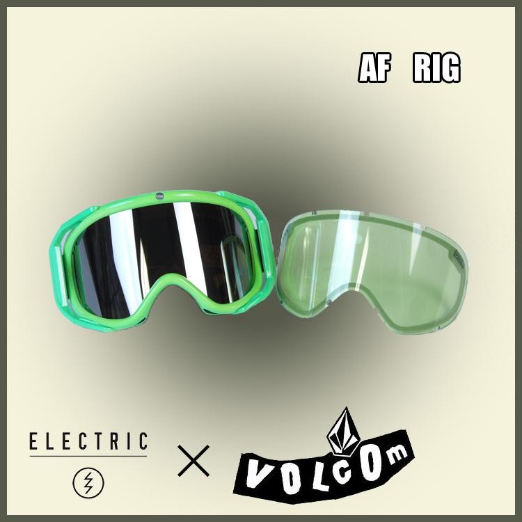 14-15 ELECTRIC エレクトリック VOLCOM ボルコム RIG 限定コラボモデル ジャパンフィット 正規品 [スノーボード ゴーグル]