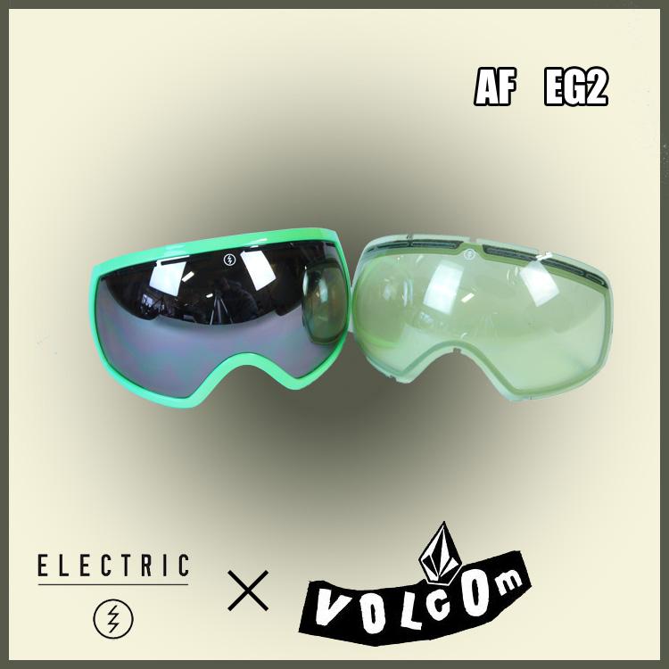 14-15 ELECTRIC エレクトリック VOLCOM ボルコム EG2 限定コラボモデル ジャパンフィット 正規品 [スノーボード ゴーグル]