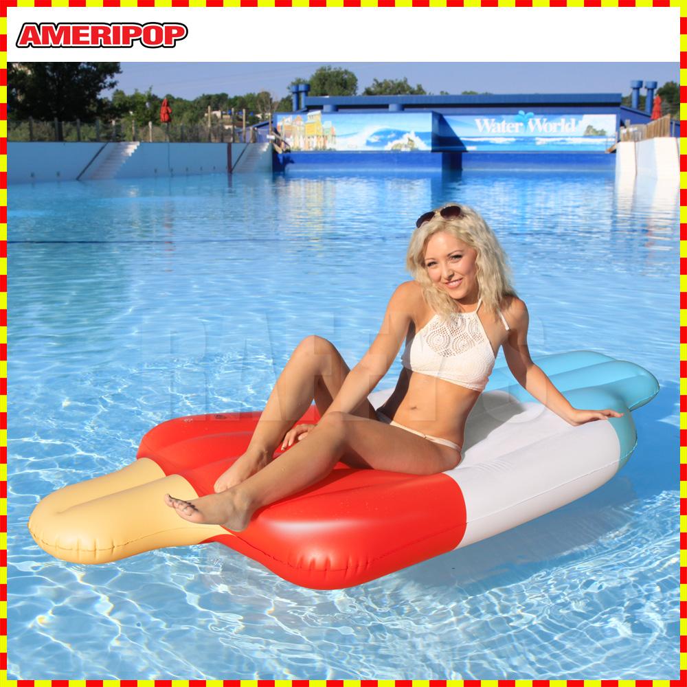 スポーツスタッフ 正規品 買い物 浮き輪 子供 SALE 大人 フロート 水遊び 水上 アイスキャンディ柄 アクアラウンジ マット
