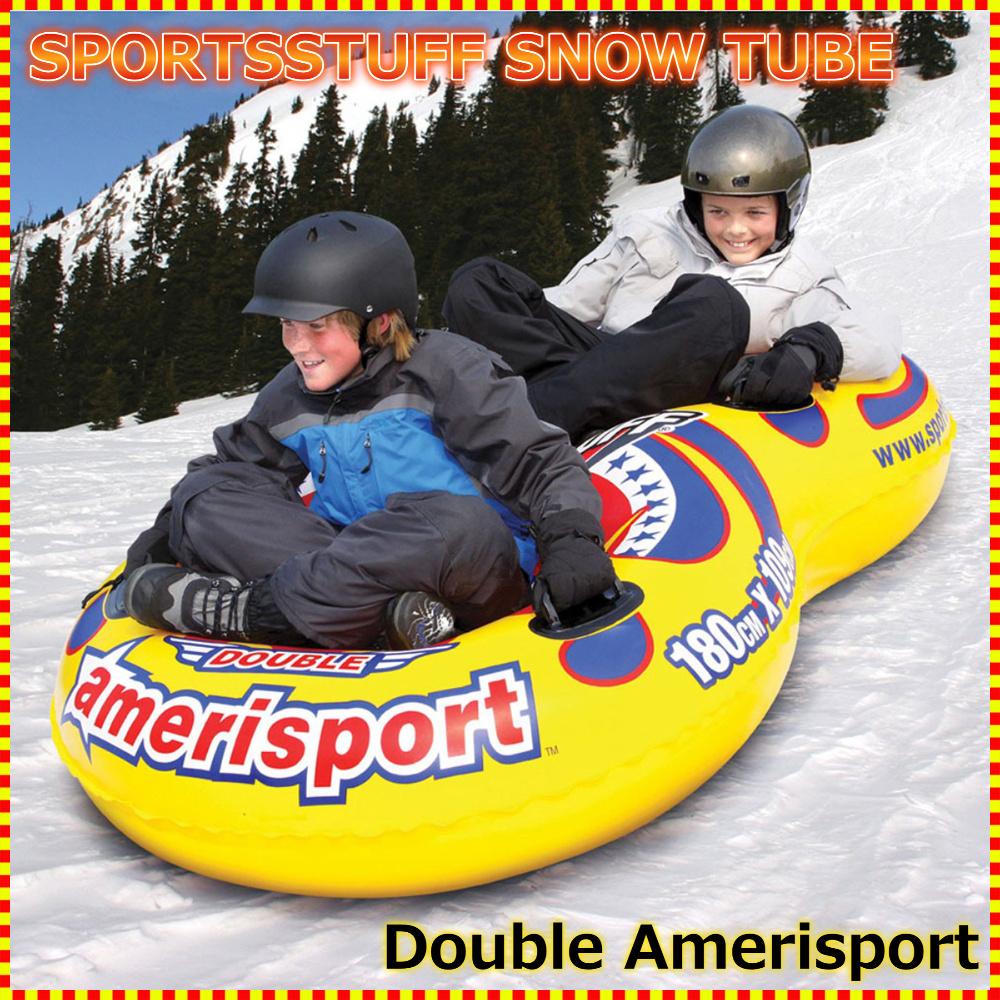 1~2人乗り スノーチューブ・エアーチューブ 雪遊び 雪そり スノーボート SPORTSSTUFF DOUBLE AMERISPORT 送料無料