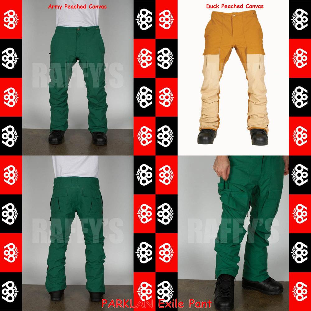15-16 686 シックスエイトシックス スノーボード メンズ ウェア PARKLAN Exile Pant パンツ/686/15-16/ウエア/2016