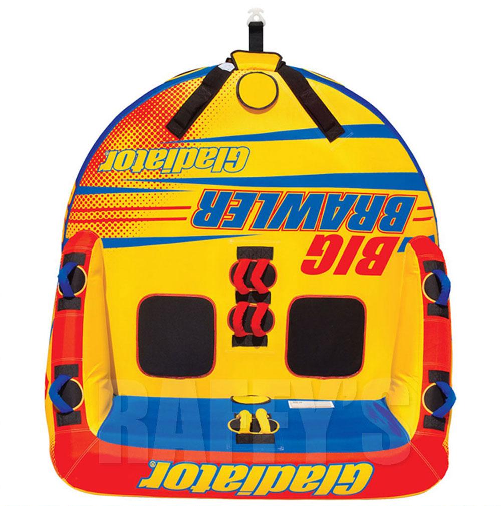 【トーイングチューブ ロープ付き 2人乗り】 グラディエーター ビッグ ブローラー Big Brawler ビッグマーブル 同等品 バナナボート